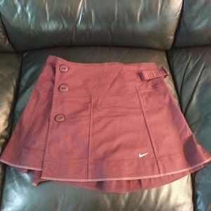 Burgundy Nike Tennis Skirt Size Medium